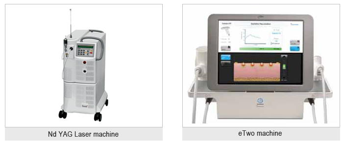 nd yag skin laser machine and etwo machine